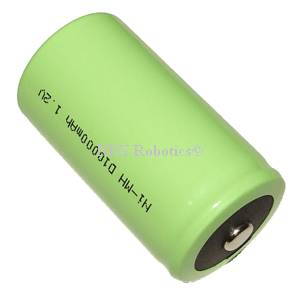 1.2V, 10000mAh Size D NiMH Battery