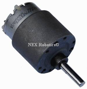 10 RPM Side Shaft 37mm Diameter Compact DC Gear Motor