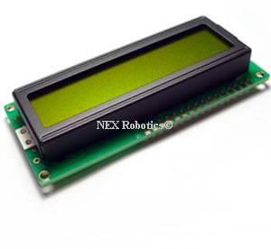 16x2 green LCD backlight