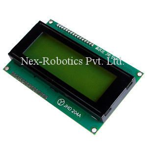 20x4 Green Serial LCD
