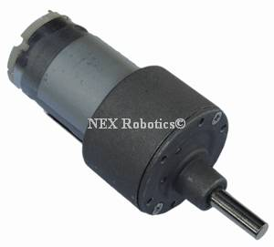 300 RPM Side Shaft 37mm Diameter High Performance DC Gear Motor