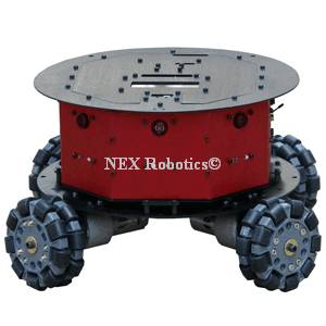4 Wheel Omnidirectional Drive Train for Fire Bird VI