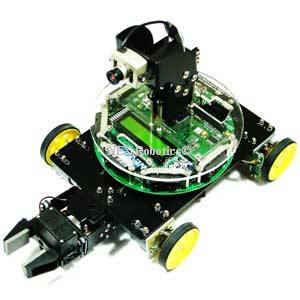 Fire Bird V ATMEGA2560 4 Wheel Drive Robot with Gripper