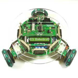 Fire Bird V ATMEGA2560 Omnidirectional Robotic Research Platform