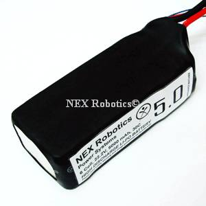 Lithium Polymer 6 Cell, 22.2V, 5000mAh, 20C discharge Battery