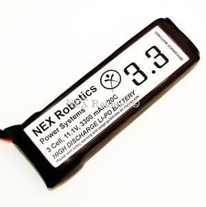 Lithium Polymer 3 Cell, 11.1V, 3300mAh, 20C discharge Battery