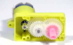 Internals of the Dual Shaft Plastic Gear Motor ST1